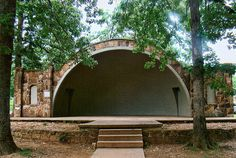 Women's Community Club Band Shell in Spring Park at Heber Springs, Cleburne County, Arkansas