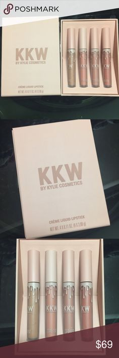 Kylie's KKW Cream Lipsticks- Box Set. - Brand new! - 💯 Authentic. - Limited Edition. - 🚫Trades. - Price Firm. Kylie Cosmetics Makeup Lipstick