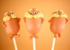 Dr. Seuss Lorax Cupcake Toppers { lilluna.com }