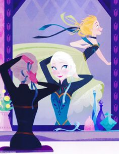 """Frozen AU: Ever After High """" Anna and Elsa are the daughters of Kai and the Snow Queen. Frozen Art, Disney Frozen Elsa, Disney Magic, Frozen Book, Anna Frozen, Snow Queen, Jelsa, Disney And Dreamworks, Disney Pixar"""
