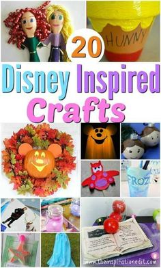 20 Disney Inspired Crafts You Will Love
