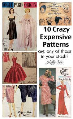 Sewing patterns can sell for more than $100 - find out what makes them valuable and see some of the most expensive sewing patterns - Melly Sews