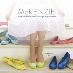 Brighten up your wardrobe with our colorful McKenzie ballet flats  #OkaB #Spring15 #Fashion #Style #Shoes #BalletFlats #Colors