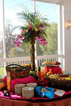 Tropical Party Table - remember to use levels