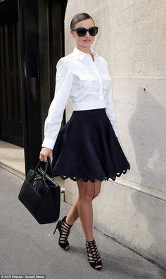 Love the skirt.  Make it slightly longer so that it goes past my knees then I should be a happy gal.