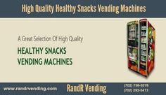 #healthyvendingmachine  #healthysnacks http://www.randrvending.com/healthy-snacks/
