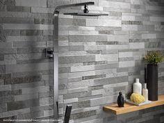 Ideas fronterizas azulejos del ba o Grey Wall Tiles, Grey Bathroom Tiles, Wall And Floor Tiles, Grey Bathrooms, Bathroom Wall, Wall Tile Adhesive, Polished Porcelain Tiles, Buy Tile, Wall Accessories