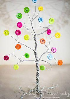 10 Ideias Lindas para Decoração com Botões para Páscoa