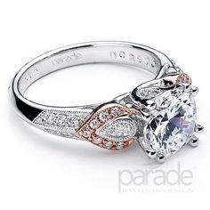 Pink diamonds and rose gold accents @j f Kruse Jewelers