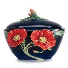 The Serenity Poppy Flower Sugar Jar
