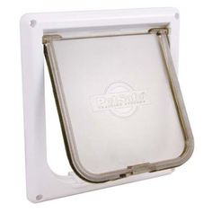 catSafe Cat Flap, Small, White -- Unbelievable  item right here! (This is an amazon affiliate link. I may earn commission from it)