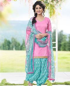 Buy Splendid Pink Patiala Salwar Kameez online at  https://www.a1designerwear.com/splendid-pink-patiala-salwar-kameez-2  Price: $22.38 USD