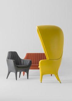 High-back polyethylene armchair SHOWTIME   High-back armchair by BD Barcelona Design