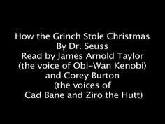 How the Grinch Stole Christmas read by Obi-Wan and Cad Bane - great for listening station