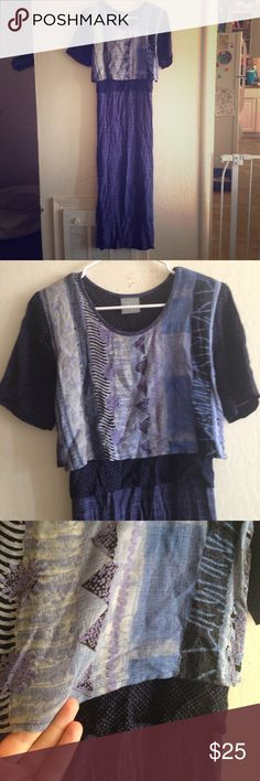 Navy Blue Rabbit Rabbit Rabbit Designs Dress Great condition. Old school Rabbit Rabbit Rabbit designs dress with an 90s pattern top. Maxi dress. Size Medium. Don't be afraid to make me an offer, I almost always accept! Or bundle & save! Rabbit Rabbit Rabbit Dresses Maxi