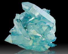Aqua Aura Quartz - Arkansas (Aqua Aura is quartz that has been treated with gold fumes)