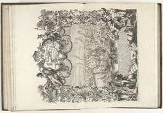 Johann August Corvinus | Zeeslag in de baai van Vigo, 1702, Johann August Corvinus, Jeremias Wolf, Karel VI (Duits keizer), 1712 - 1715 | Zeeslag in de baai van Vigo. De Frans-Spaanse vloot wordt op 23 oktober 1702 verslagen door de gecombineerde Engels-Hollandse vloot waarbij de zilvervloot wordt buitgemaakt. Voorstelling in een rijk versierde ornamentele omlijsting met met bovenaan een kaart van het gebied rond Vigo. Onderaan in het midden een cartouche met een beschrijving van de…