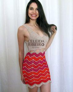 Vestido de crchet!!! Fan Page: http://celeidapaixaoportrico.blogspot.com.br/