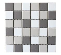 Concrete Grey Blend Mosaic - T0028237: Concrete Grey Blend Mosaic 300x300mm Concrete, Bathrooms, Mosaic, Grey, Gray, Bathroom, Full Bath, Mosaics, Bath