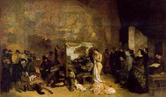 Gustave #Courbet • #Atelier dell'Artista, 1854