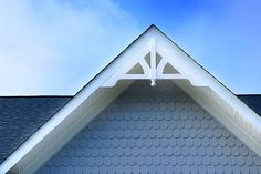 Architectural detail - ornamental gable and scalloped shingles at Brunswick Crossing, a planned community in Brunswick, Maryland by Brunswick Crossing, via Flickr