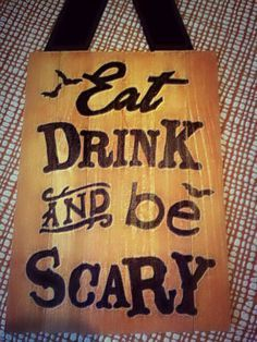 image result for halloween pallet signs