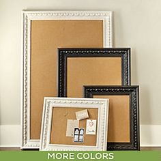 ART: These are crazy overpriced Corkboards BUT we have access to very cheap frames at the liquidators and can put our own corkboard into it. I'd hang it behind your bedroom door.