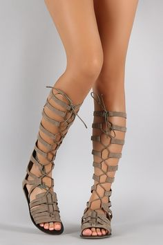 85337e3b2cce Suede Strappy Corset Lace Up Gladiator Flat Sandal Girls Sandals