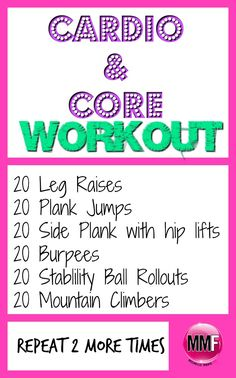 Tone the core while getting your cardio workout in. Jumpstart your weight loss and tighten and tone your ABS & Butt with this  Workout & Clean Eating Challenge. Easy to do, can be done at home, short workouts, delicious and easy to make recipes. Huge results in only 14 days.  https://michellemariefit.leadpages.co/14-day-clean-eating-challenge/