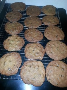 """Chocolate Chip cookie """"crack"""" ... because one is all it takes to get you hooked ...  yummy !"""