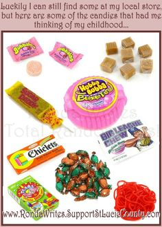 My faves from Old Time Candy!  #OldTimeCandy  http://rondawrites.supportstluciecounty.com/Blogs/Remembering-Old-Time-Candy.html