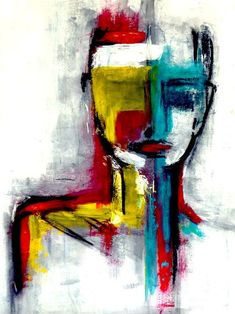 strong - no.2 Acrylic, Charcoal, black Ink on Paper - AnnCT 2011 #abstractart