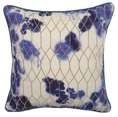 Flow Cotton Throw Pillow