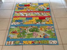 Berenstain Bears Unisex Baby Quilt by FabricatedQuilts on Etsy, $80.00