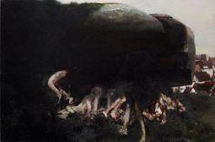 thunderstruck9: Justin Mortimer (British, b. 1970), Hill, 2009. Oil on panel, 61 x 81 cm. via thee-gold-bug