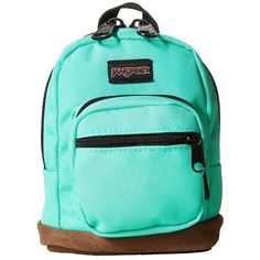 JanSport Right Pouch (Seafoam Green) Backpack Bags ($18) ❤ liked on Polyvore featuring bags, backpacks, mini backpack, green tote handbag, green tote bag, jansport backpack and blue backpack