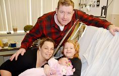 Mom and dad Barbra and Blair Boyd and big sister Kenzie, six, surrounded Ridge Meadows Hospital's New Year's baby Avery Grace, born at a. on Jan. Jan 1, Mom And Dad, Dads, Times, Couple Photos, Big, Couple Shots, Fathers, Couple Photography