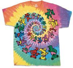 ed09416c3a1 Grateful Dead - Spiral Bears Tie Dye T Shirt Grateful Dead Clothing