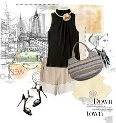 """Down Town Girls"" by floreandra on Polyvore"
