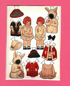 vintage inspired paper doll inkspired musings: Paper Doll Valentines