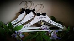 #wedding #weddinghangers #bridalhangers #personalisedhangers #bridesmaidgifts #bridesfreewhenyoubuy3ormore #flowergirlhangers #customisedbysharon #madewithlove www.facebook.com/customisedbysharon www.etsy.com/shop/customisedbysharon www.customised-by-sharon.co.uk