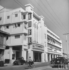 A view of LIFE Theater along Quezon Boulevard, Quiapo, Manila Location: Manila, Philippines Date Photographed: 1942 Photographer: Carl Mydans Credit: Life Magazine Philippine Holidays, Uk Visa, Time Inc, Sr1, Art Deco Buildings, Manila Philippines, Life Magazine, Pinoy, Cool Photos