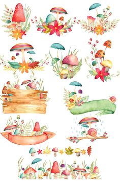 Watercolor Love mushroom clipart fall clipart autumn illustrations fall Can You Pick a Winning Slot Halloween Illustration, Autumn Illustration, Watercolor Illustration, Woodland Illustration, Halloween Drawings, Watercolor Clipart, Watercolor Flowers, Watercolor Paintings, Watercolor Wood