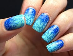 Nail Polish Society: Seaweed In a Blue Lagoon Gradient