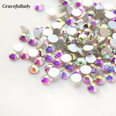 Top quality 1440pcs SS3 Clear AB Nail Art Rhinestones For Nails 3D Manicure Decoration Shiny Non Hotfix Flatback Crystal