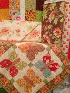 Front Porch Quilt Shoppe, quilt made by Janan Doster, 2013, pattern by Fig Tree Quilts