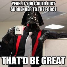 May the 4th be... (ah, you know the rest😜) #maythe4thbewithyou #starwars #4thbewithyou #darthvader #officespace #tpsreports #initech #BillLumbergh #Lumbergh