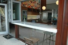 bi-fold window with continuous bar to back porch