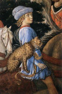 By Benozzo Gozzoli, from the Palazzo Medici Riccardi.