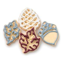 Fall pop out cookie cutters can be used for pie crust decorating or cutting out cookies.